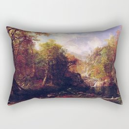 The Emerald Pool 1870 By Albert Bierstadt | Reproduction Painting Rectangular Pillow