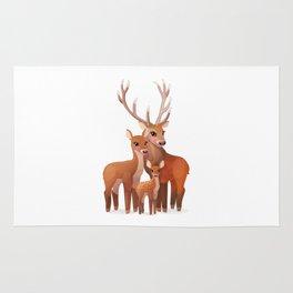 Happy family of deer Rug