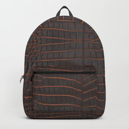 Chestnut Nile Crocodile Leather Print Backpack