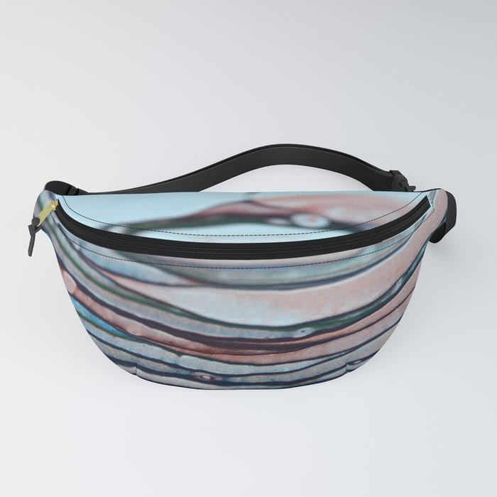 Abstract Blue & Red Lines Fanny Pack