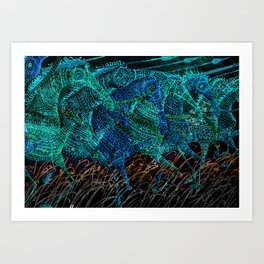 Cavalry Charge Art Print