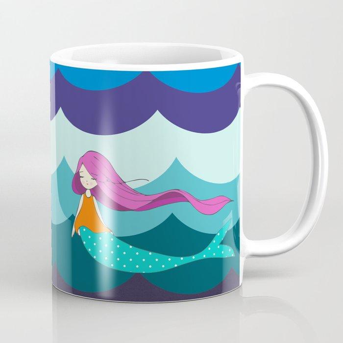 Mermaid in Blue Coffee Mug