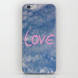 I love you,love,sky,cloud,girl, romantic,romantism,women,heart,sweet iPhone Skin