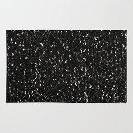Black and white shiny glitter sparkles Rug