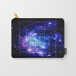 Galaxy sacred geometry Golden Mean Deep Blue Carry-All Pouch