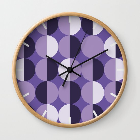 Retro circles grid purple by danadudesign