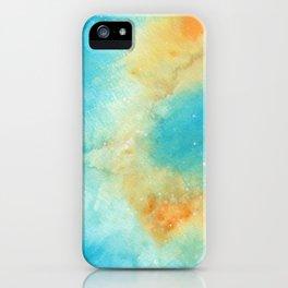 Orange & Blue Galaxy iPhone Case