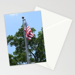 Red White and Trees Stationery Cards