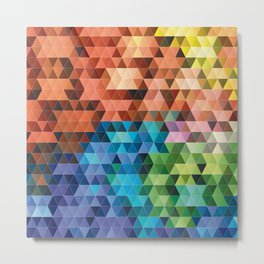 Geometric gradient pattern Metal Print