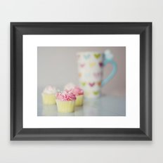 Coffee and Cupcakes Framed Art Print