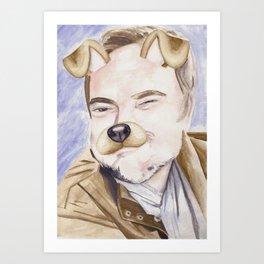 Mark Sheppard, watercolor painting Art Print