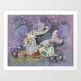 Zodiac Collection: Capricorn Art Print