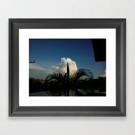 Palm Tree and Cloud Framed Art Print