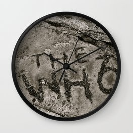 The Who Wall Clock