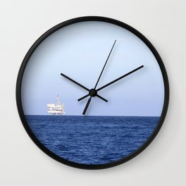 Oil Rig Wall Clock