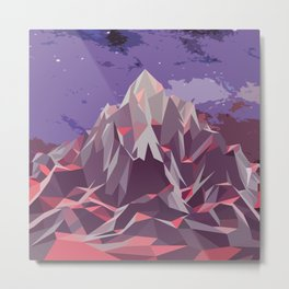 Night Mountains No. 6 Metal Print
