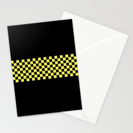 Ska Style - Yellow Stripe Checkerboard Stationery Cards