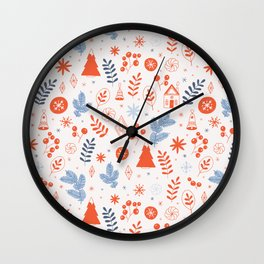 Scandinavian Cottage and Woodlands Wall Clock