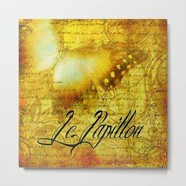 LE PAPILLON   yellow Metal Print