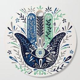 Hamsa Hand – Navy Palette Cutting Board
