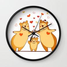 Family of bears Wall Clock