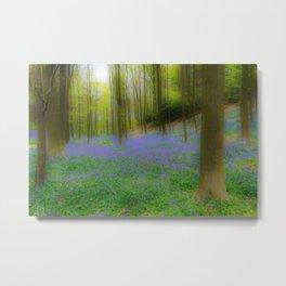 Bois de Halle Bluebells Metal Print