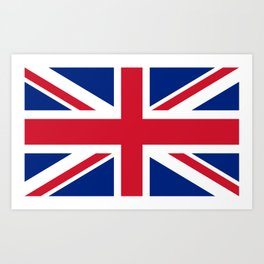 UK FLAG - The Union Jack Authentic color and 3:5 scale  Art Print