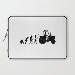 Farmer Evolution Tractor Retro Look Laptop Sleeve