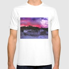Keep Out of Dune MEDIUM Mens Fitted Tee White