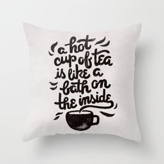 Hot Tea Throw Pillow