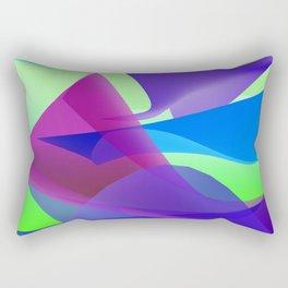 geometric waves -c- Rectangular Pillow
