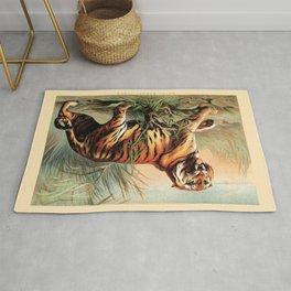 Vintage Bengal Tiger Rug