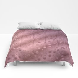 Tiny Bubbles Pink Champagne Splash Pattern Comforters