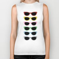 sunglasses Biker Tanks featuring Sunglasses #3 by Project M