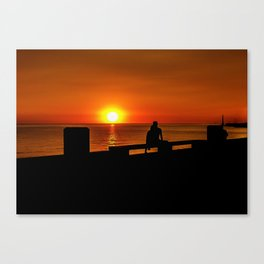 Romantic Coastal Urban Scene, Montevideo, Uruguay Canvas Print