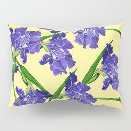 Watercolour Iris on Yellow Pillow Sham