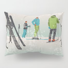 Skiers Summit Pillow Sham