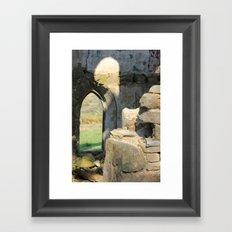 Tower Ruins Framed Art Print