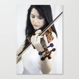 La violoniste Canvas Print