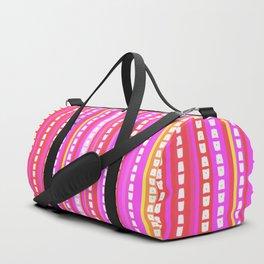 Fuschia Stripes Duffle Bag