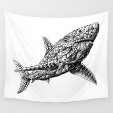 Great White Wall Tapestry