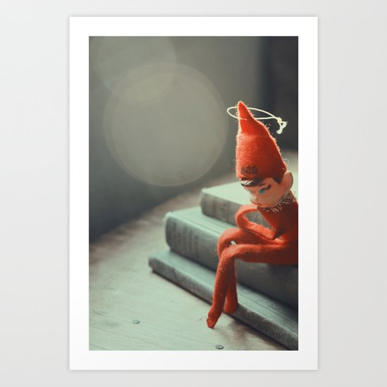 Howard the Christmas Elf Art Print