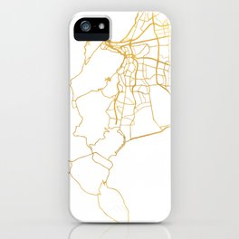 CAPE TOWN SOUTH AFRICA CITY STREET MAP ART iPhone Case