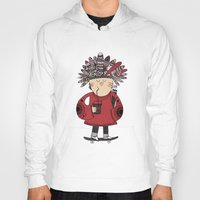 native american Hoodies featuring Native American Skater Boy by Farnell