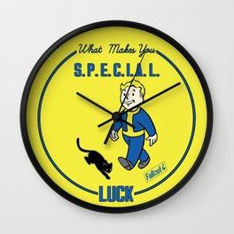 Luck S.P.E.C.I.A.L. Fallout 4 Wall Clock