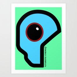 Futuristic Cyborg Logo 4 Art Print