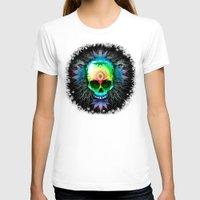 marijuana T-shirts featuring Marijuana Psychedelic Skull by BluedarkArt