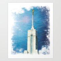 Mount Timpanogos Utah LDS Temple Art Print