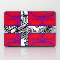 denmark iPad Cases featuring circuit board Flag (Denmark) by seb mcnulty