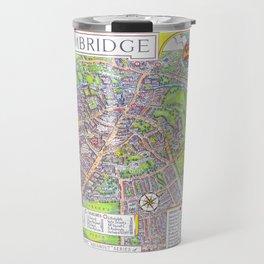 CAMBRIDGE University map ENGLAND Travel Mug